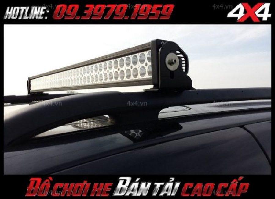 Đèn nóc xe bán tải dạng thẳng với 2 hàng led độ đẹp cho xe Ford Ranger