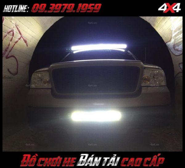 Picture <strong>đèn led nóc xe bán tải</strong>: thiết kế siêu đẹp mắt của xe bán tải sau khi gắn đèn led light bar