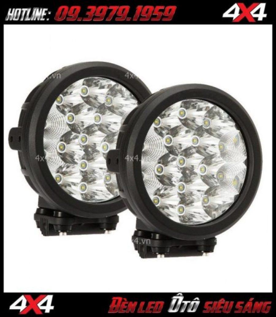 Đèn led tròn gắn nóc xe bán tải đẹp và trợ sáng cực tốt khi đi đêm