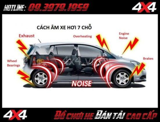 Gói các âm xe hơi dành cho các loại ô tô 7 chỗ tại TpHCM