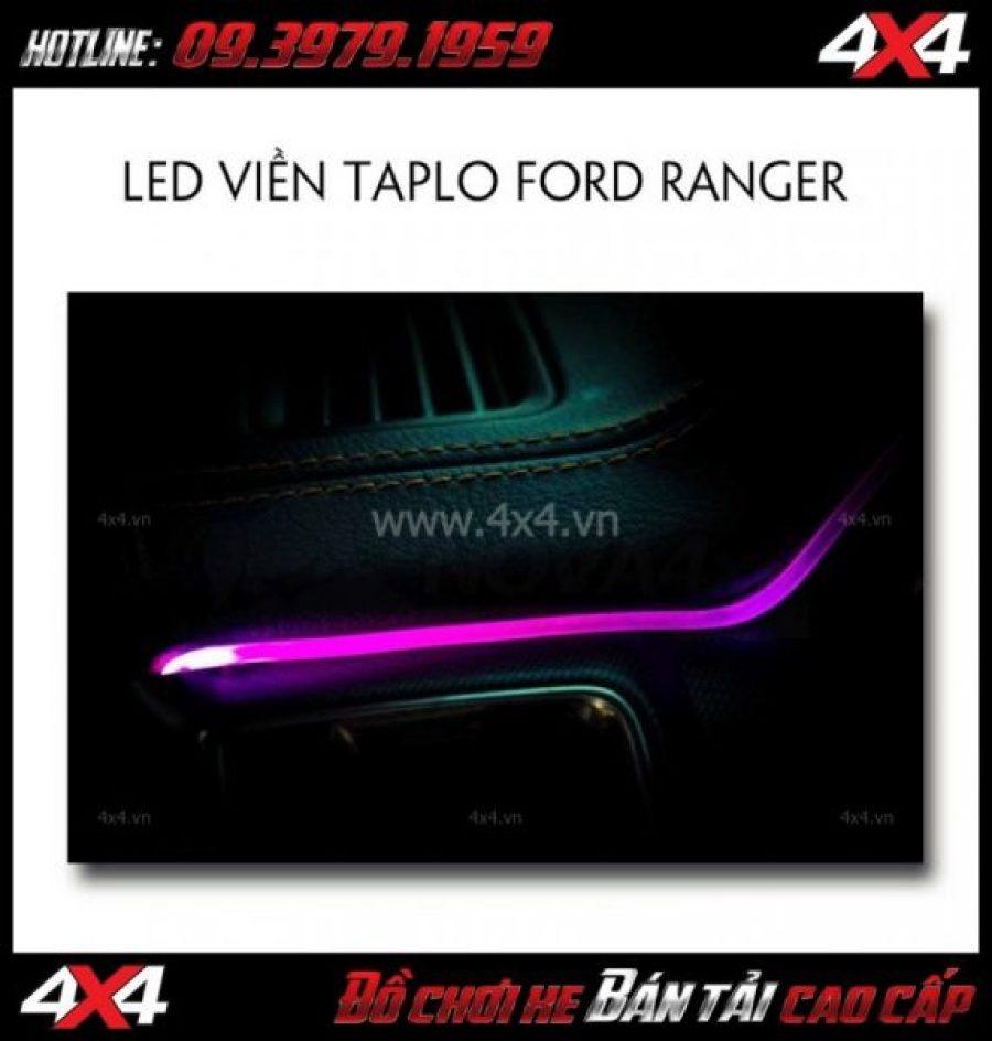 Picture: Viền led taplo đổi màu bằng điện thoại dành cho xe bán tải Ford Ranger 2019 2018