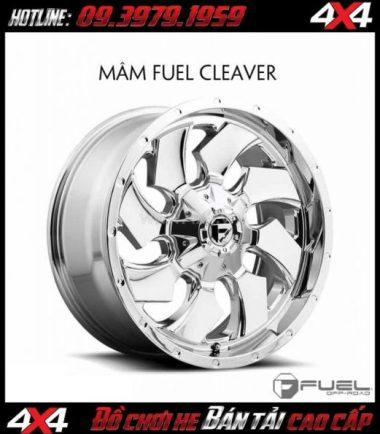 Picture Bán mâm 18 inch: Mâm Fuel One Piece Cleaver D573 màu bạc