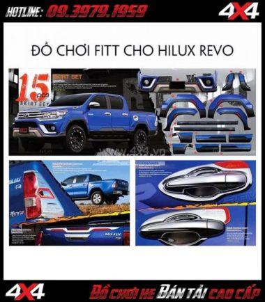 Combo bộ ốp trang trí Fitt Thái Lan cho Toyota Hilux Revo tại HCM