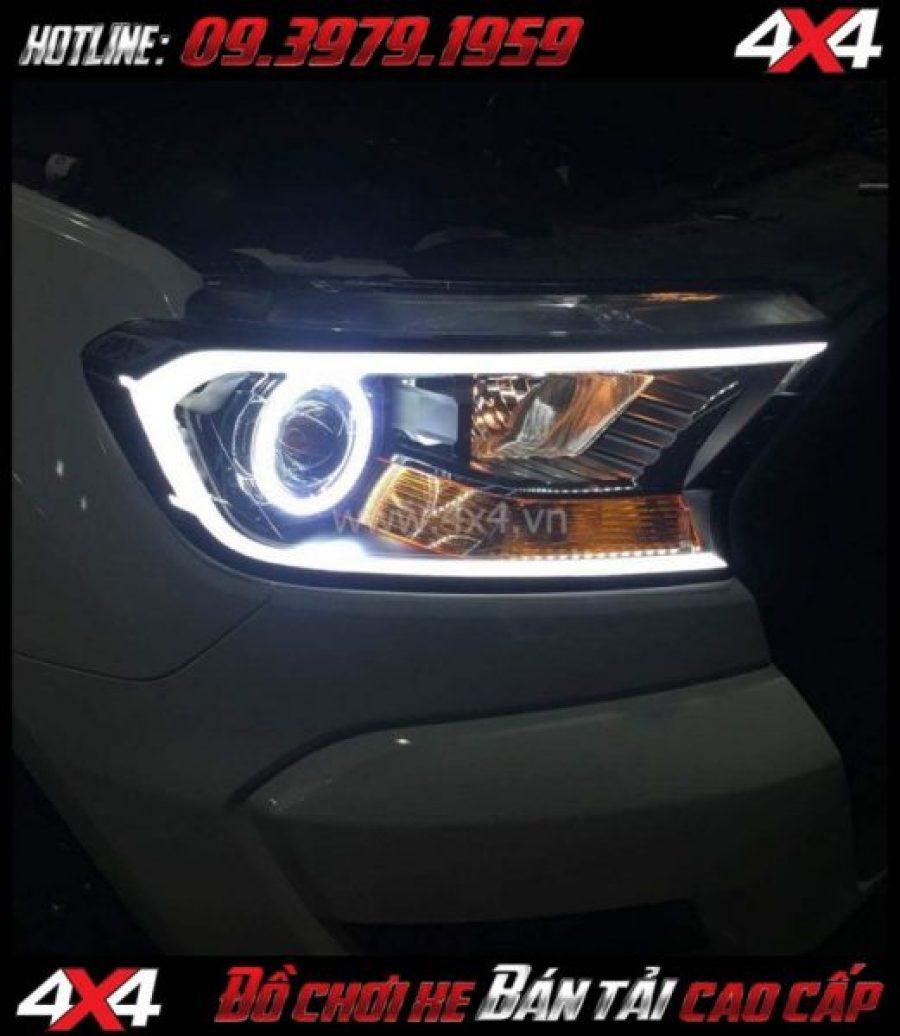 Picture Mí led gắn đẹp và đẹp cho xe pickup Ford Ranger 2018 2019 tại Tp Hồ Chí Minh