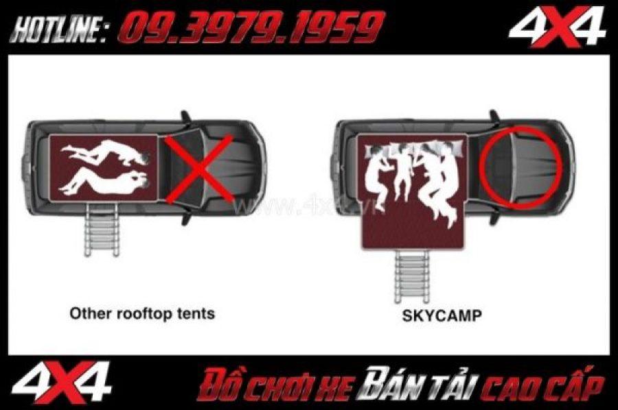 Image: Lều dã ngoại Skycamp Ikamper thuận tiện dành cho gia đình du lịch
