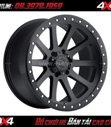 Mâm Lazang oto 17 inch Blackrhino Mint Matte Black độ xe bán tải, xe ô tô