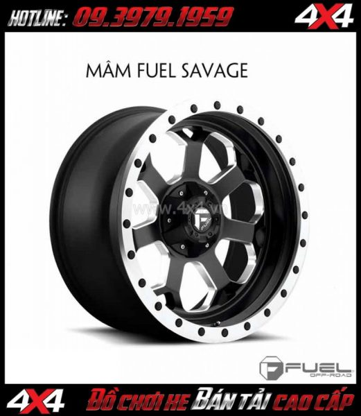 Mâm xe hơi thể thao: Mâm Fuel One Piece Savage D565 cho xe bán tải và SUV