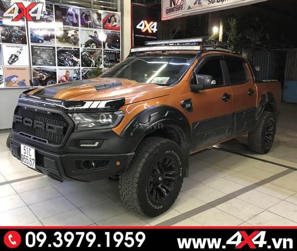 Đồ chơi xe Ford Ranger: Xe bán tải Ford Ranger lên Body kit Raptor tại 4x4