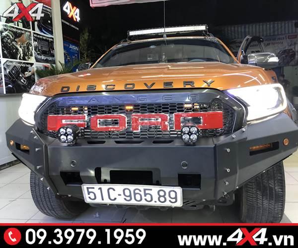Đồ chơi xe Ford Ranger: Cản trước KSC Striker độ đẹp và hầm hố cho xe bán tải