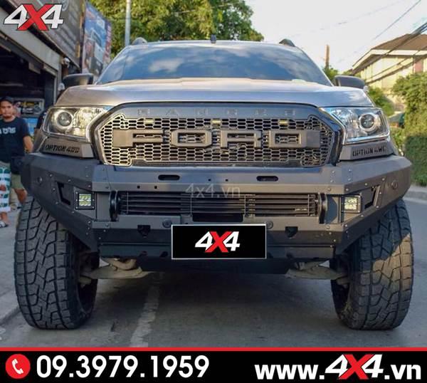 Đồ chơi xe Ford Ranger: Cản trước Option 4wd loại sọc độ đẹp và đẳng cấp cho xe bán tải Ford Ranger