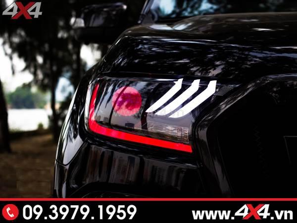 Tấm ảnh đồ chơi xe Ford Ranger: Combo Đèn mắt quỷ, mí led, vòng Angel eyes mẫu Ford Mustang 3D thay đẹp và ngầu cho xe off road Ford Ranger 2019 2018 ở HCM