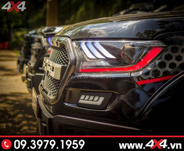Tấm ảnh đồ chơi xe Ford Ranger: Combo Đèn mắt quỷ, mí led, vòng Angel eyes mẫu Ford Mustang 3D độ đẹp và đẹp mắt cho xe pick up Ford Ranger tại Sài Gòn