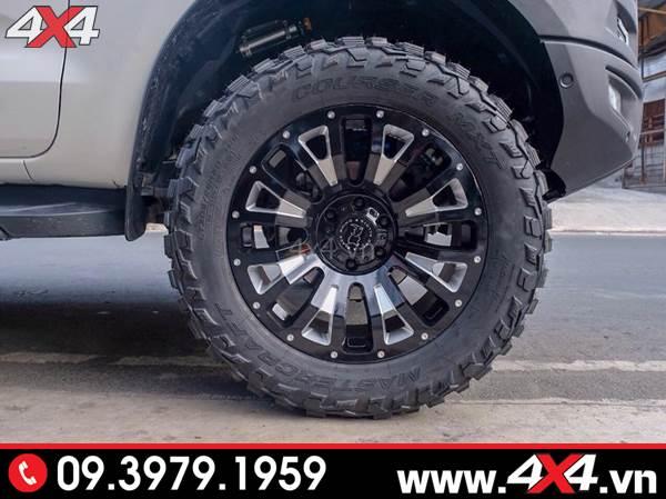 Đồ chơi xe Ford Ranger: Mâm Black Rhino Pinatubo đẹp, ngầu và độc dành độ xe bán tải Ford Ranger