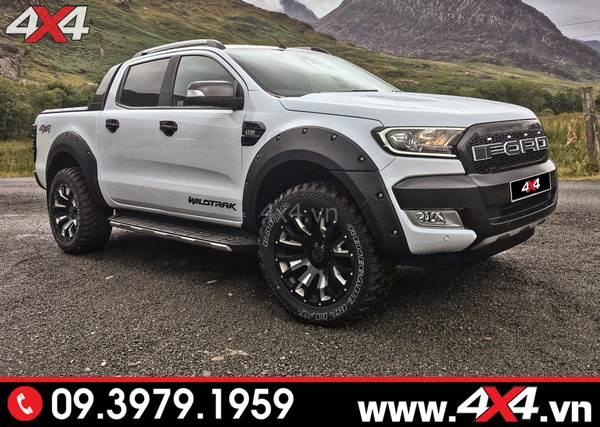 Đồ chơi xe Ford Ranger: Chiếc bán tải Ford Ranger lên mâm Black Rhino Pinatubo đẹp và ngầu 2018 2019