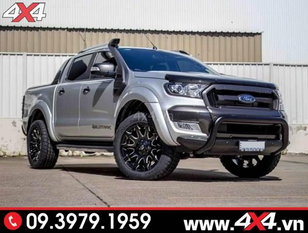 Đồ chơi xe Ford Ranger: Chiếc bán tải Ford Ranger gắn mâm Fuel Battle Axe và nhiều món đồ chơi đẹp, đẳng cấp