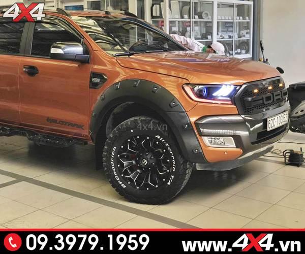 Ốp viền bánh xe Ford Ranger loại đinh lồi độ đẹp ngầu và chất cho xe bán tải