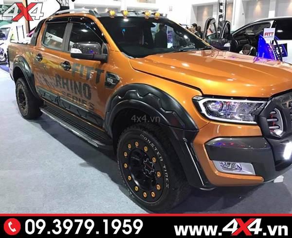 Đồ chơi xe Ford Ranger: Ốp cua lốp FITT Thái Lan răng cưa độ đẹp và ngầu cho xe bán tải