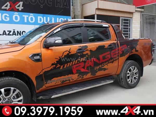 Tem dán xe Ranger - Chiếc Ford Ranger 2018 2019 màu cam lên tem Ranger đẹp và độc đáo