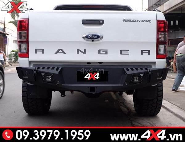 Cản sau Ranger độ: Cản Option 4WD độ đẹp, cứng cáp và chất cho xe bán tải
