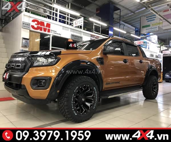 Độ mâm Ford Ranger: Mâm Fuel Assault độ đẹp và ngầu cho xe bán tải
