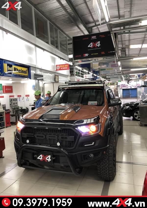 Ốp nắp capo xe Ford Ranger Thái Lan độ đẹp và ngầu