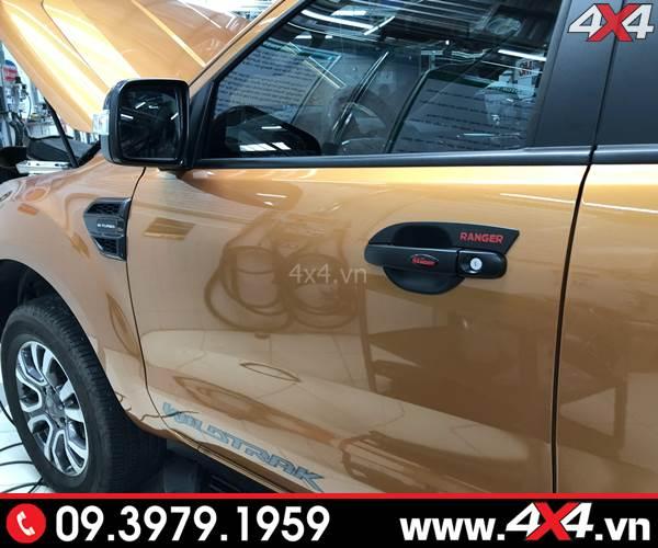 Ốp chén cửa, ốp tay cửa Ford Ranger độ đẹp và ngầu dành cho xe Ranger