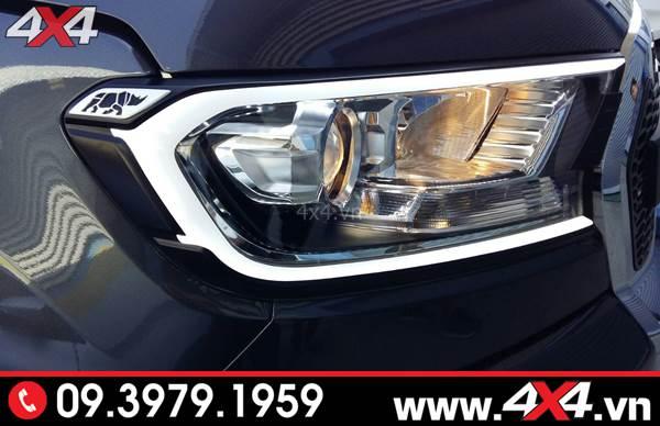 Ốp viền đèn trước có đèn led độ đẹp và nổi bật cho xe Ranger