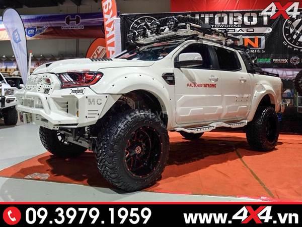 Chiếc bán tải Ford Ranger màu trắng độc và đẹp với nhiều món đồ chơi khủng - Hình 13