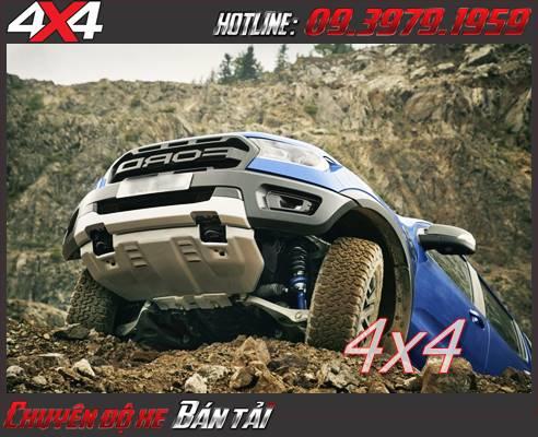Gầm xe Ford Ranger Raptor cao đáp ứng mọi địa hình off-road