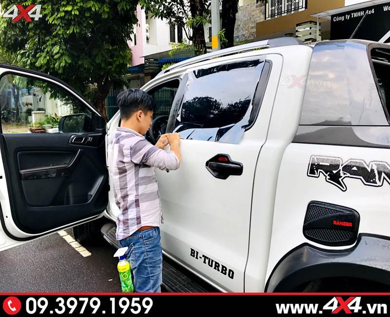 Dán phim cách nhiệt cho Ford Ranger giúp cách nhiệt hiệu quả và tiết kiệm nhiên liệu