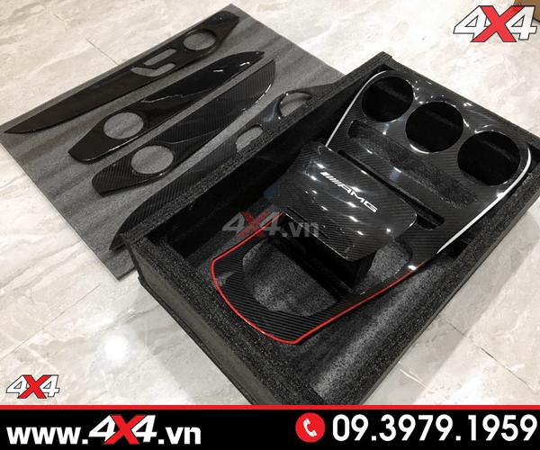 Bộ ốp carbon fiber độ cực chuẩn cho xe Mercedes Benz W205 C200 C250 C300