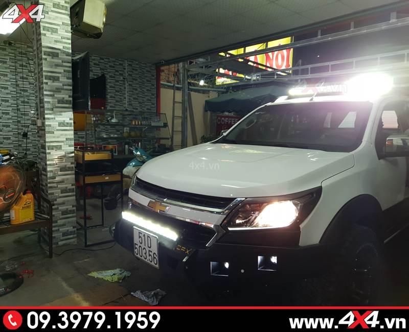 Đèn Led bar Novaled tăng sáng cho xe bán tải Chevrolet Colorado