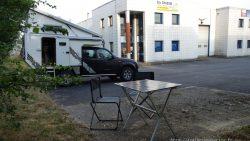 Bivouac sur le parking