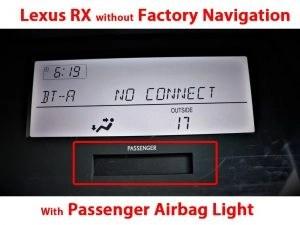 WITH Passenger Airbag Light