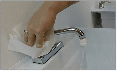 barrier and faucet image