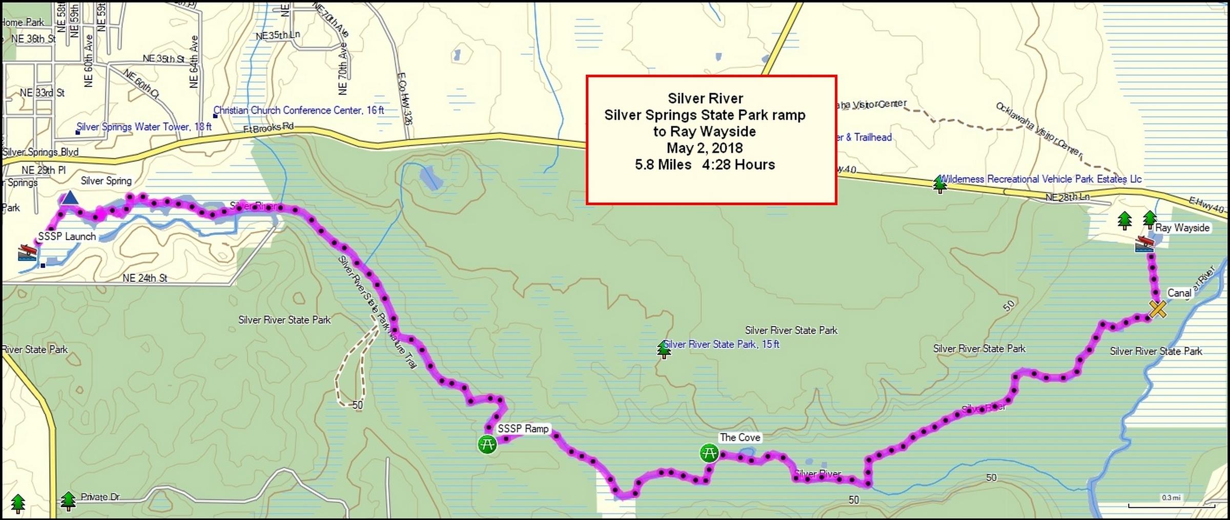 Rainbow River Head Springs Map