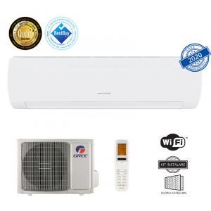 Gree Muse GWH12AFB-K6DNA1A Model 2020, 12000 BTU, A++/A+, Inverter, Wi-Fi, Filtru Catechin, Display Led, Buton I Feel + Kit instalare inclus