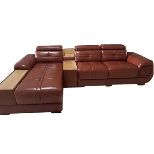 brown leather sectional sofa set