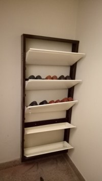 Wall Mount Shoe Rack