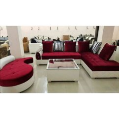 White Sofa Set Living Room Beautiful Pictures Wood Maroon And Designer Rs 50000 Touch
