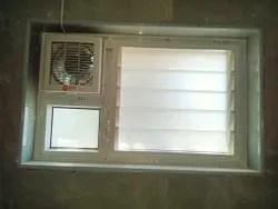 bath room ventilator with exhaust fan provision