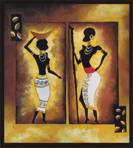 excotic african art painting