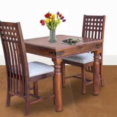 2 Seater Kitchen Table Set Chair With Arms Maple Finish Furniselan Fancy Dining Rs 20700
