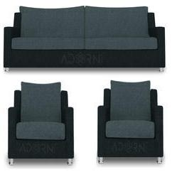 Sofa Set Pune India 84 Inch Outdoor Cover Adorn Manufacturer Of Straight Line 3 1 Modern Grey Black