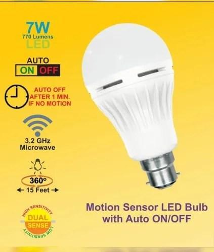 microwave radar motion sensor led bulb