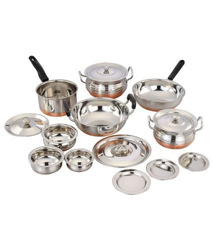 kitchen vessels set epoxy floor silver copper bottom vessel rs 780 just dream innovation