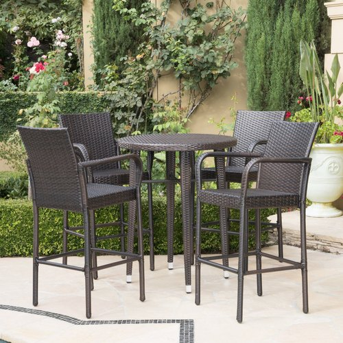 patio bar chair and table set