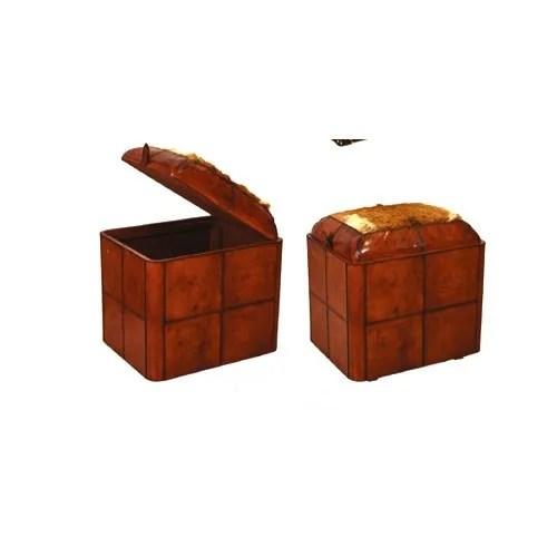 ec 133 tan leather ottoman drawer