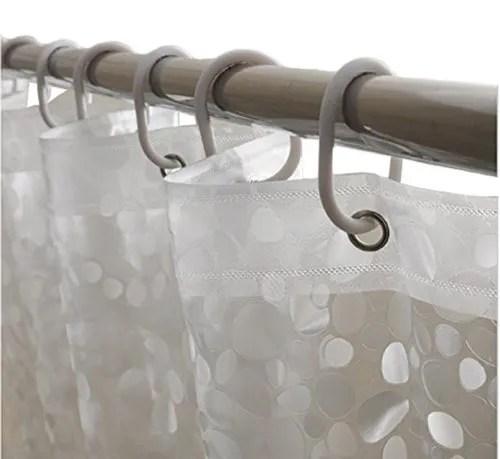 pvc transparent shower curtain