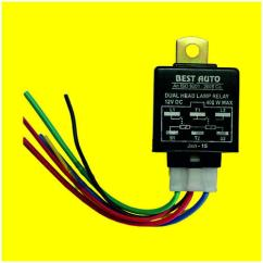 5 Pin Relay Wiring Diagram Headlights Wire Three Way Switch Multiple Lights Headlamp 12v With 6 Best Auto Industries Delhi